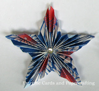completed accordion star