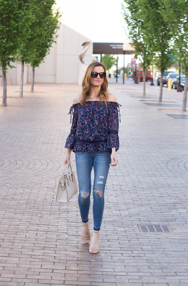 Off Shoulder Floral Top #floraltop #stitchfix