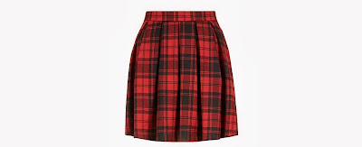New Look Red Tartan Check Skater Skirt
