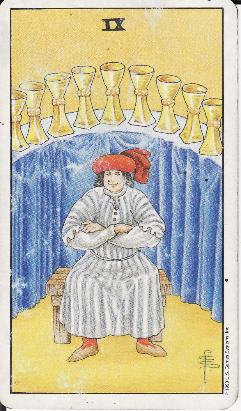 TAROT - The Royal Road: 9 NINE OF CUPS IX