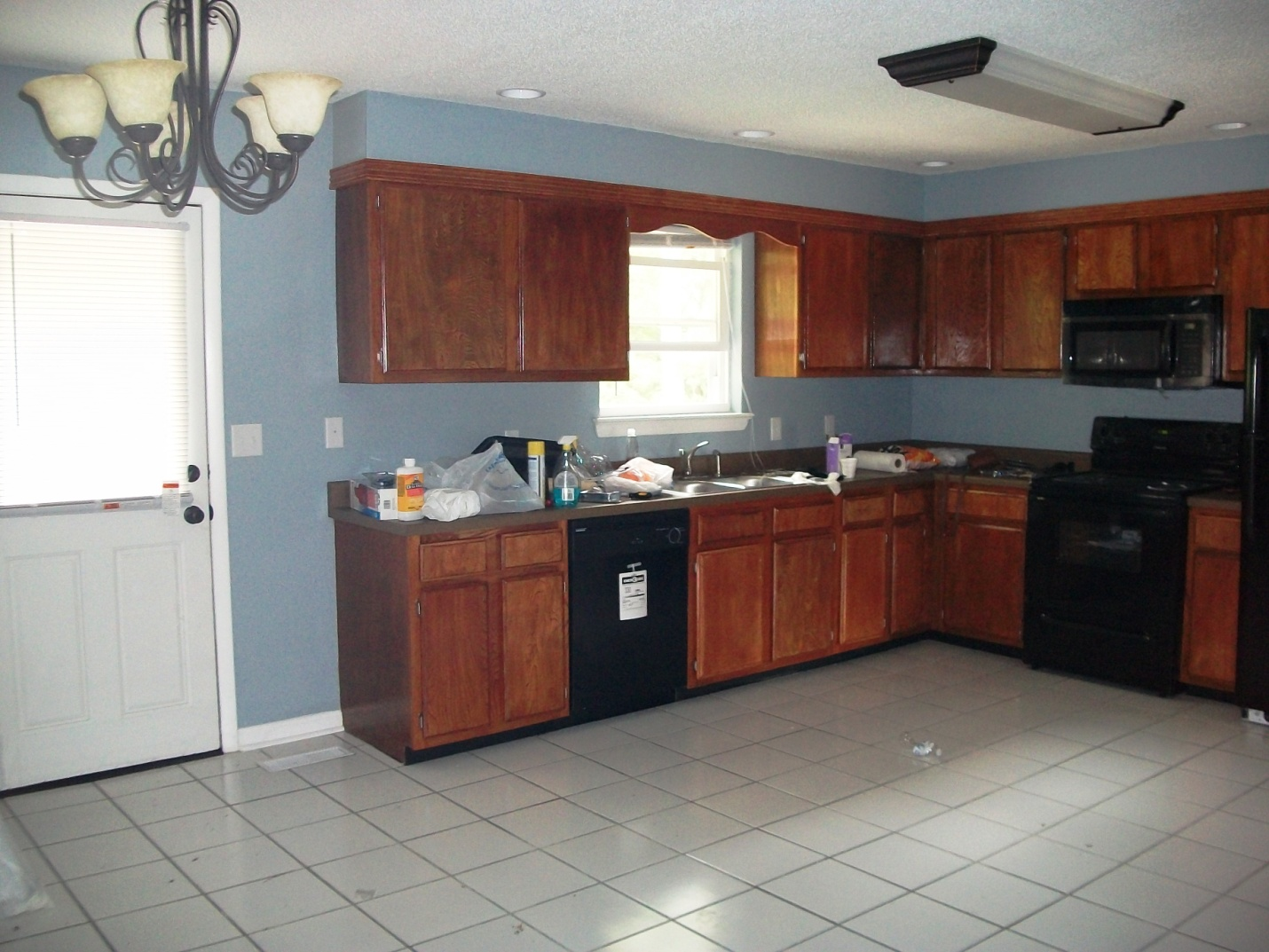 And I Wanted A Blue Kitchen To Add Some Red Accents Too However Did Not Love The Cabinets