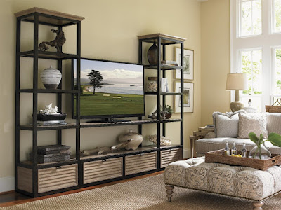 coastal style media wall unit