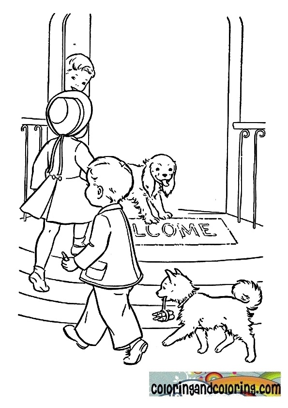 Welcome home daddy coloring pages coloring pages for Welcome home coloring pages