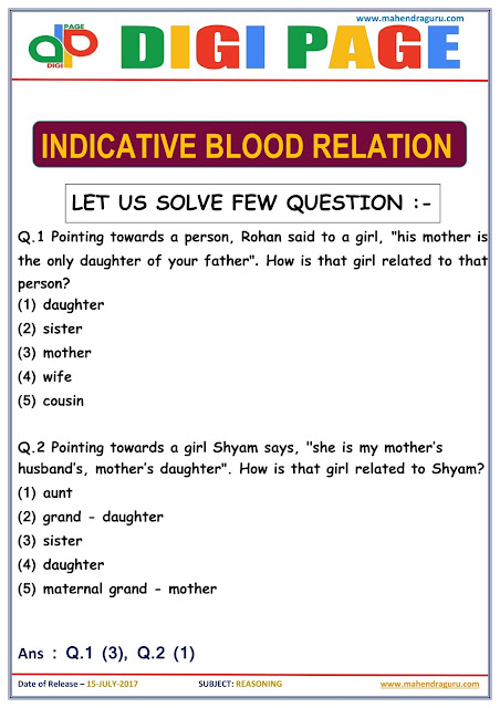 DP | Indicative Blood Relation | 15 - July - 17 |