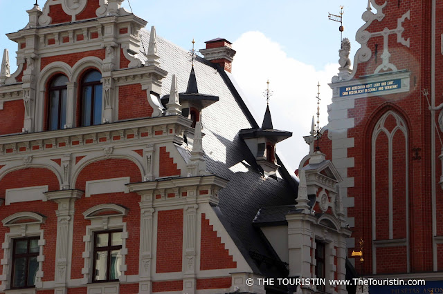 Latvia. House of Blackheads Riga, Facade. The Touristin