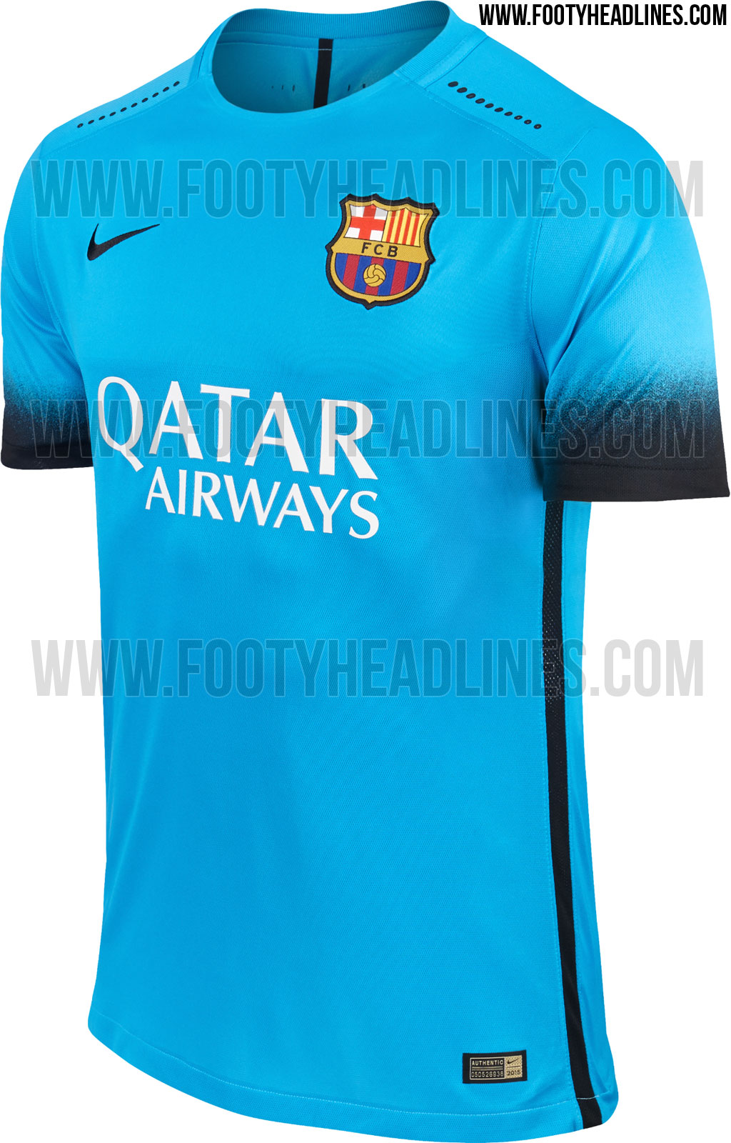 Fc Barcelona 15 16 Third Kit Released Footy Headlines