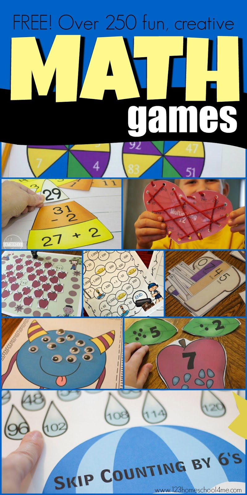 small resolution of 250+ FREE Math Games and Activities