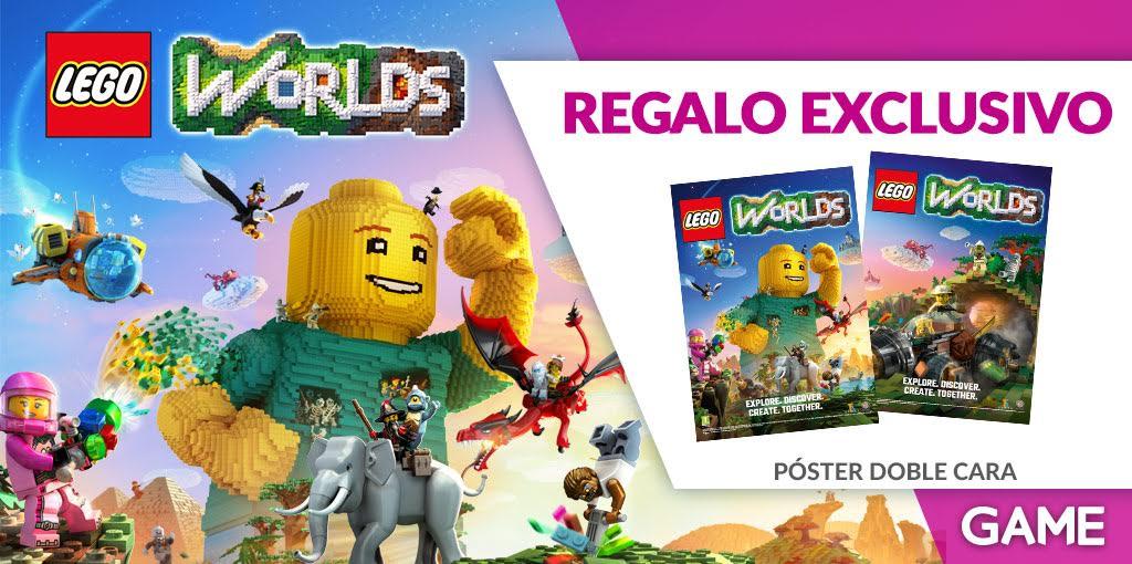 Decora tu cuarto con el póster de doble cara de LEGO Worlds que nos ofrece GAME al comprar el título