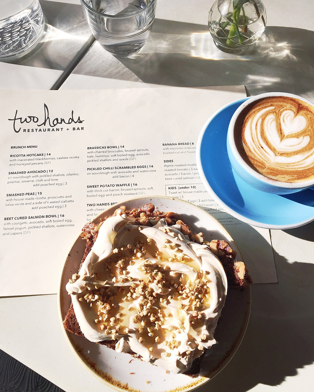 Breakfast at Two Hands Resturant, New York City, Best Brunch