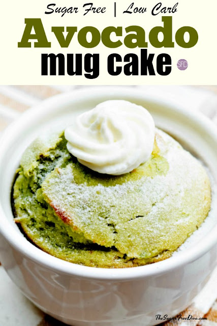 Healthy Sugar-Free Avocado Mug Cake