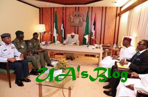 BREAKING News: President Buhari In Closed-door Meeting With Security Service Chiefs In Aso Rock