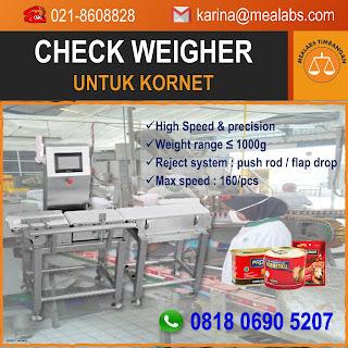 Checkweigher untuk Kornet