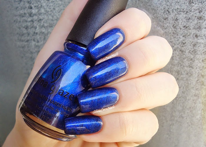Sapphire blue dry marble