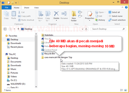 Tutorial Komputer Cara Memecah File Menjadi Beberapa Bagian