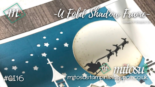 Stampin' Up! Hometown Greetings SU U Fold / Bridge Fold Shadow Frame Card Idea order craft supplies from Mitosu Crafts UK Online Shop