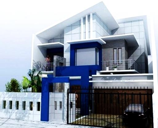 Kombinasi Desain Warna  Cat  Dinding Biru Yang  Indah  Pada Rumah