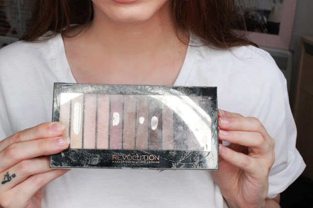makeup revolution, matte eyeshadow, eyelook, smokey eye, drugstore, nudes,