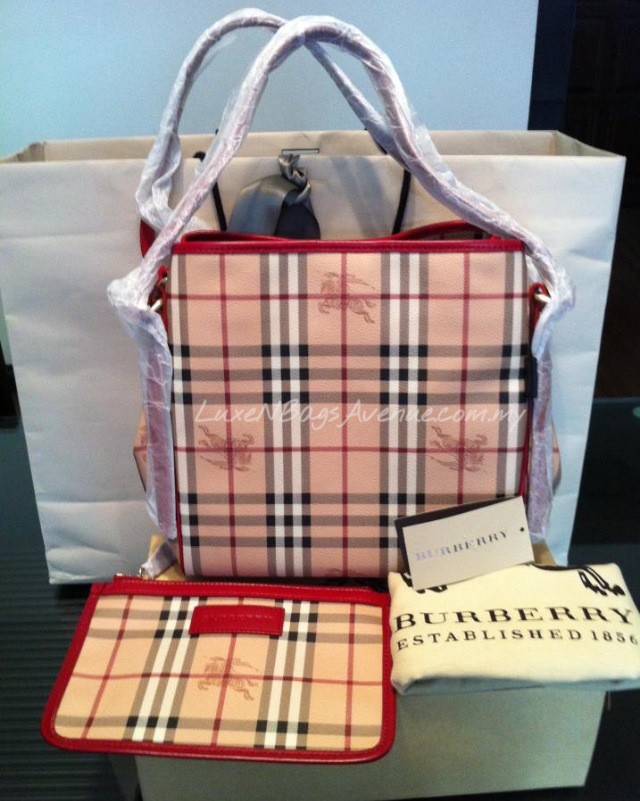LuxeNBagsAvenue.com.my  Burberry Small Haymarket Check Tote Bag ... 49dde1a8c7462