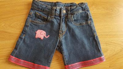 Upcycled summer shorts