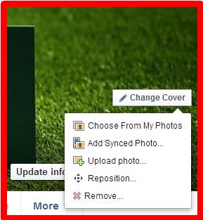 how can i change my facebook cover photo