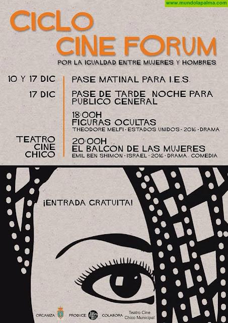 El Ayuntamiento de Santa Cruz de La Palma organiza un ciclo de Cine Fórum por la igualdad entre mujeres y hombres