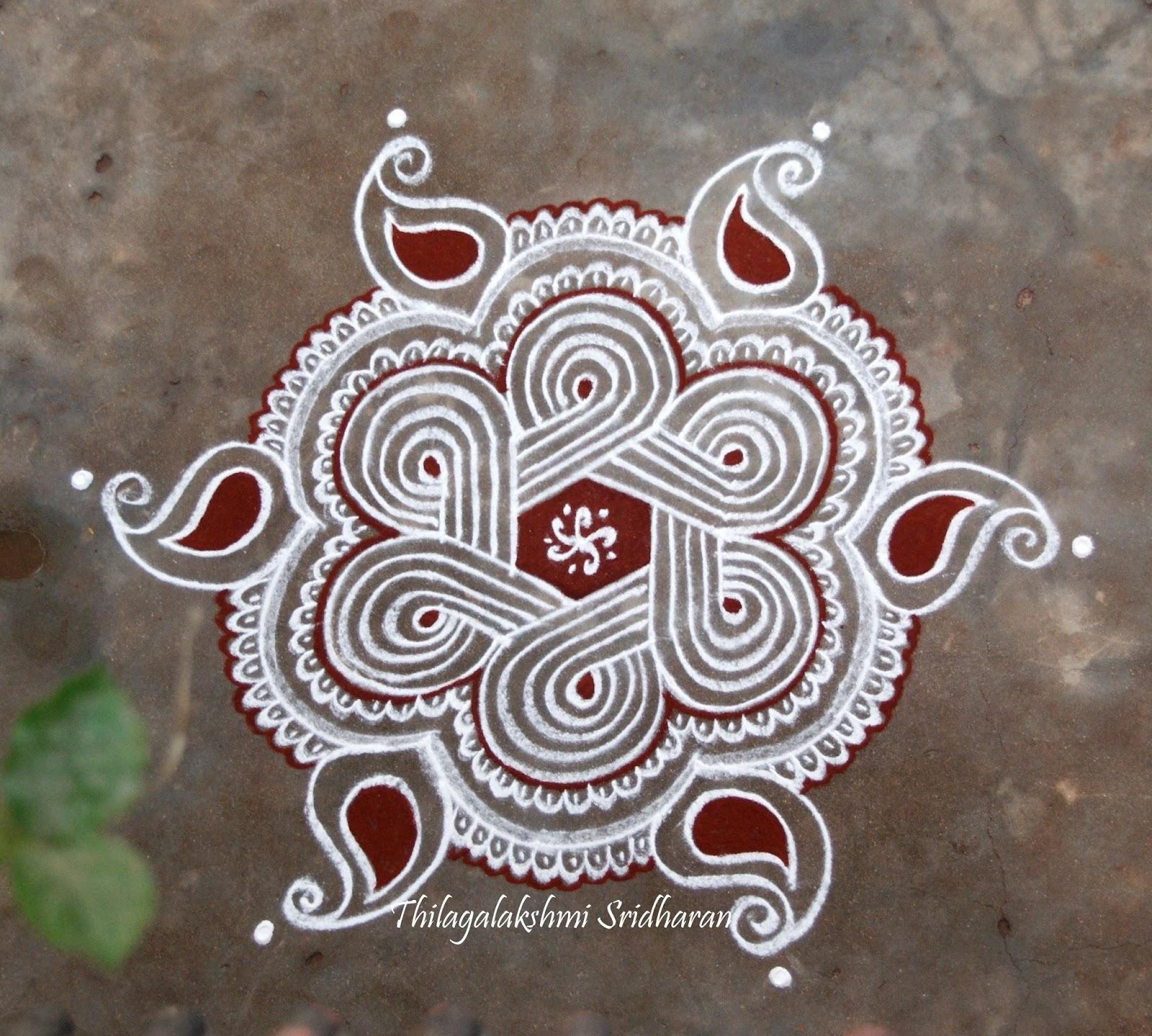 Rangoli And Art Works Dotted Kolam 7 4 Dots