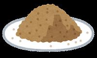 粉のイラスト(茶色)