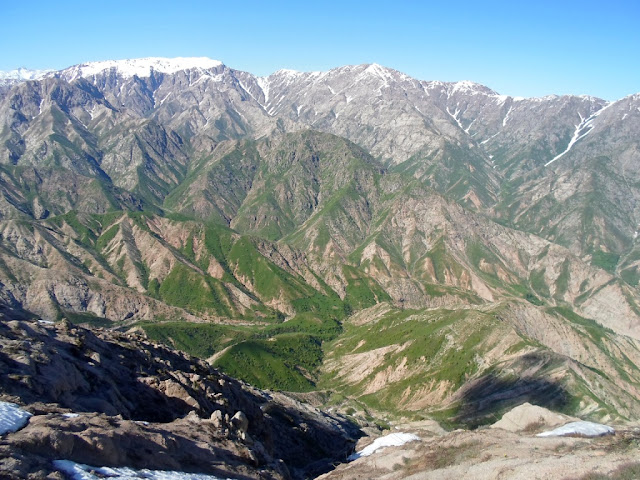 Гора Муштеппа, водораздельный хребет между Варзобом и Ромитом, горы Таджикистана - фото-обзор похода