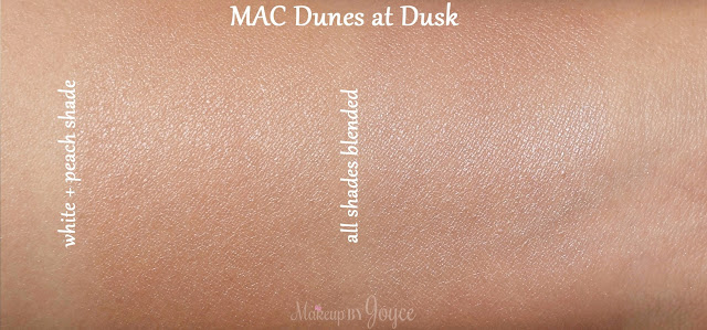 MAC Gleamtones Powder Dunes at Dusk Swatches