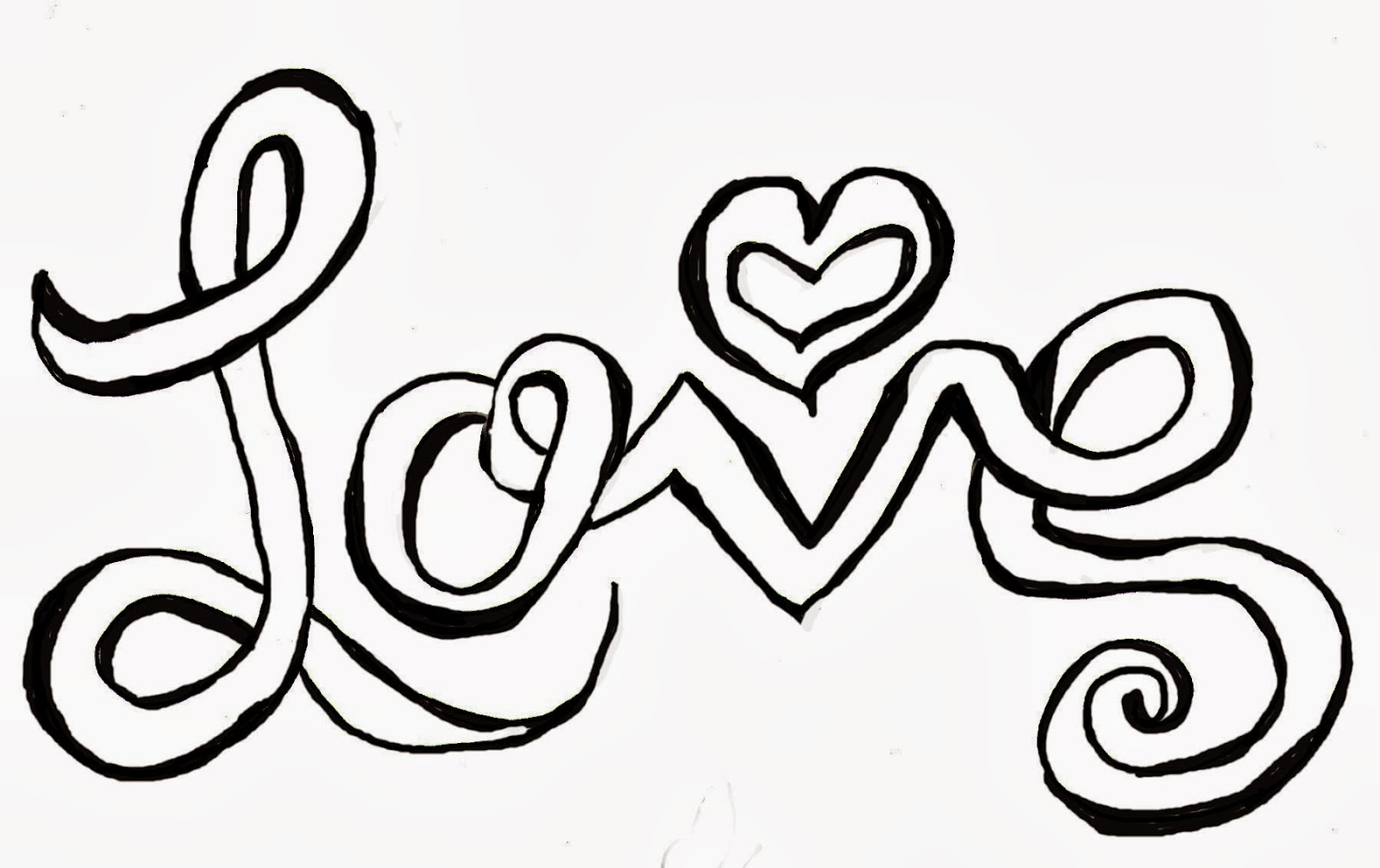 Free Peace Word Coloring Pages