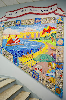 Mural at Hadley made of shells