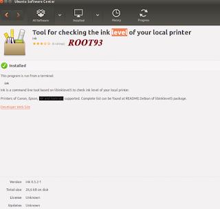 Aplikasi pengecek tinta di ubuntu