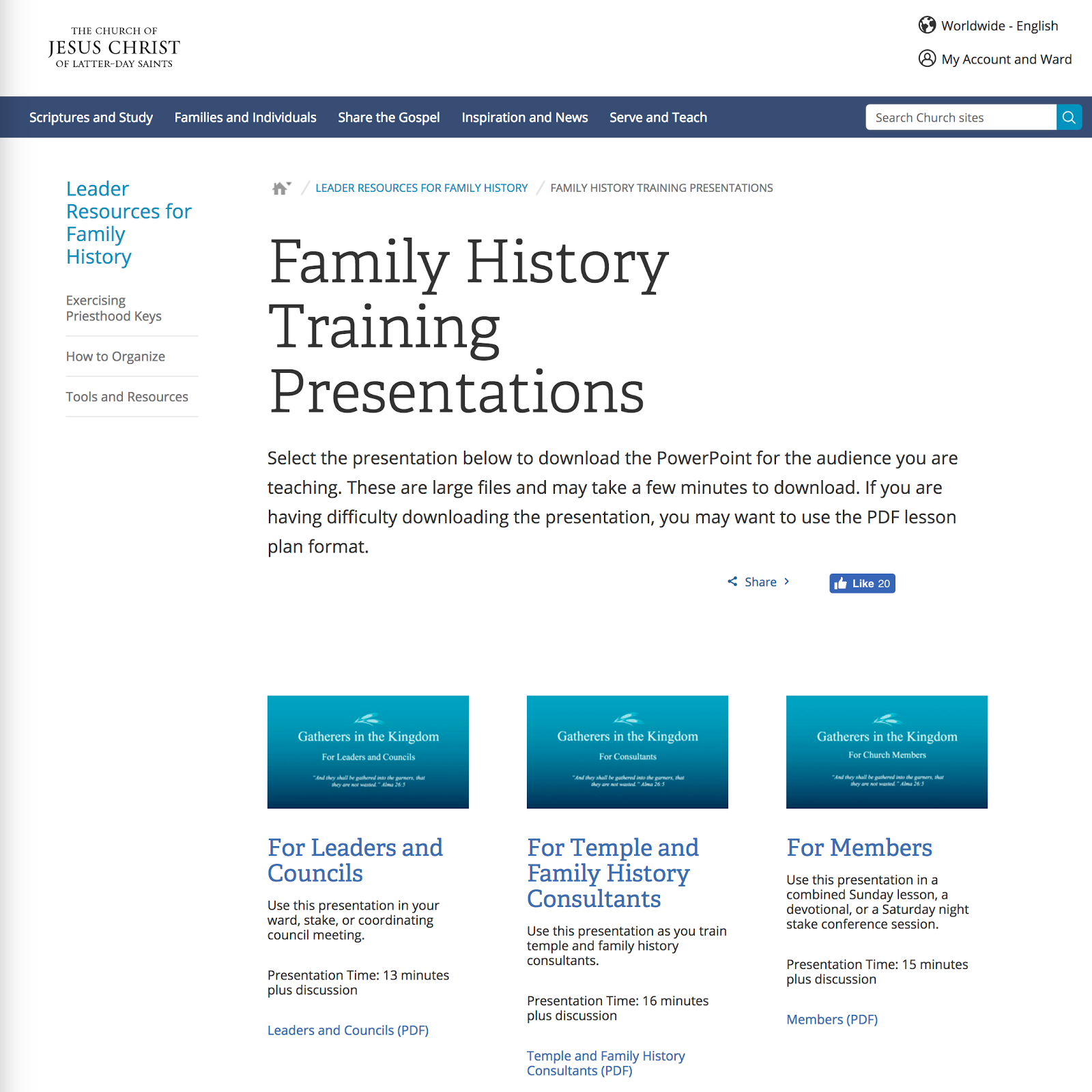 rejoice and be exceeding glad family history training presentations