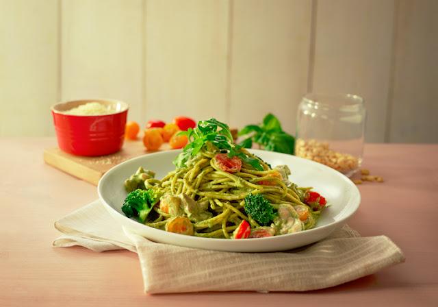 Resepi Pasta Pesto Ayam