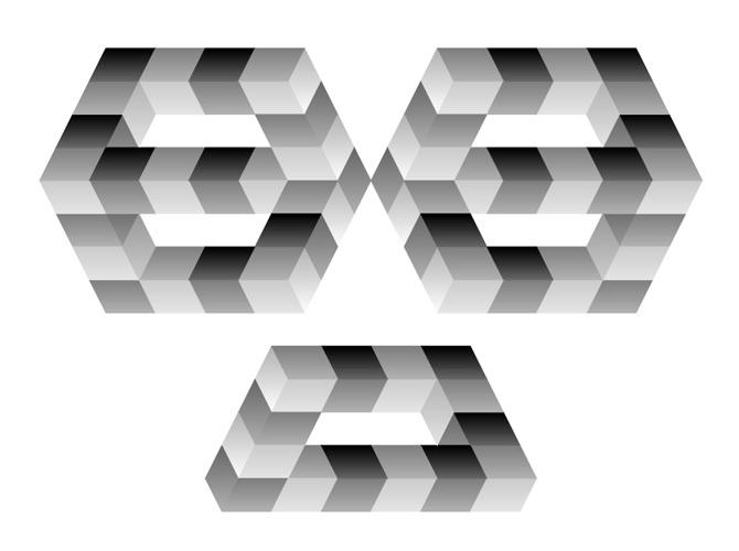 Altıgen ve dikdörtgen paradoksların oluşturduğu paradoks şekil