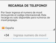 cargar telefono gratis