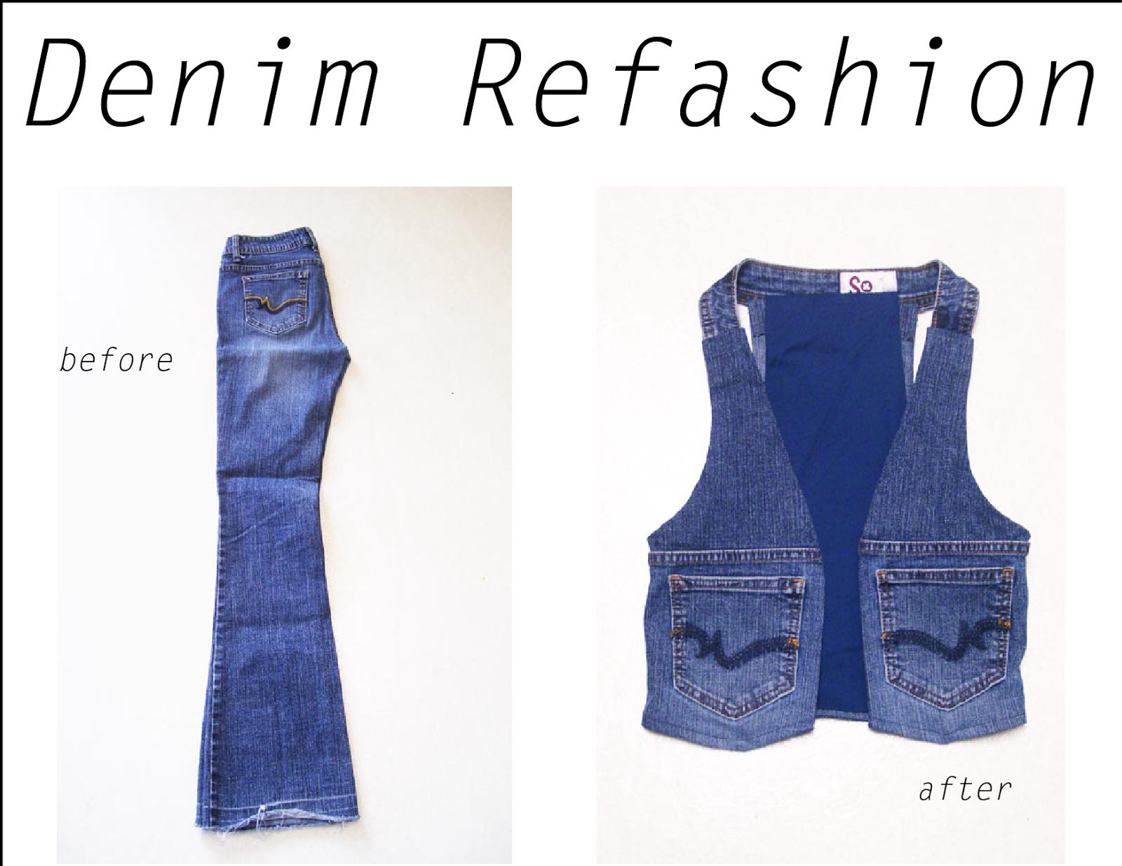 Kostuumvest Op Jeans.Refashion Co Op Denim Refashion Jeans To Vest