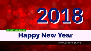 Sparkling Red Background Happy New Year 2018 wishes images