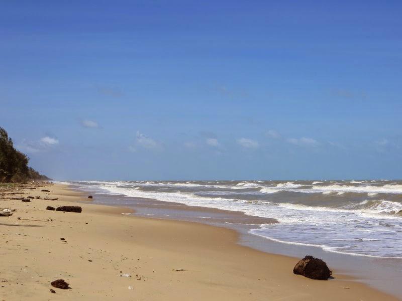 Длинный пляж