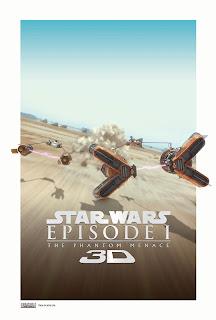 SW La amenaza fantasma 3D poster 3