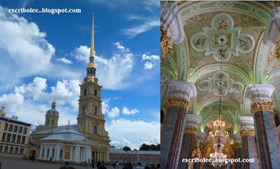 Viaje a Rusia: San Petersburgo: fortaleza de Pedro y Pablo e interior de su catedral