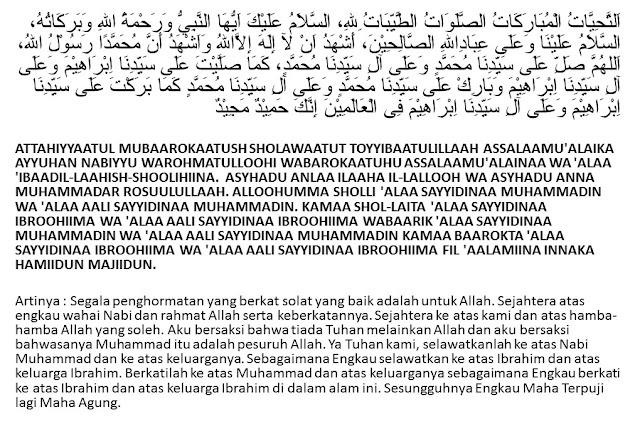 Doa Tahiyat Awal Dan Tahiyat Akhir Lengkap Sesuai Sunnah