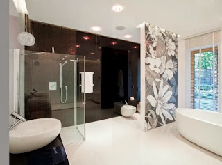 Cuarto de baño moderno elegante