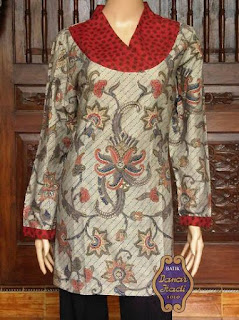 baju batik kerja atasan wanita