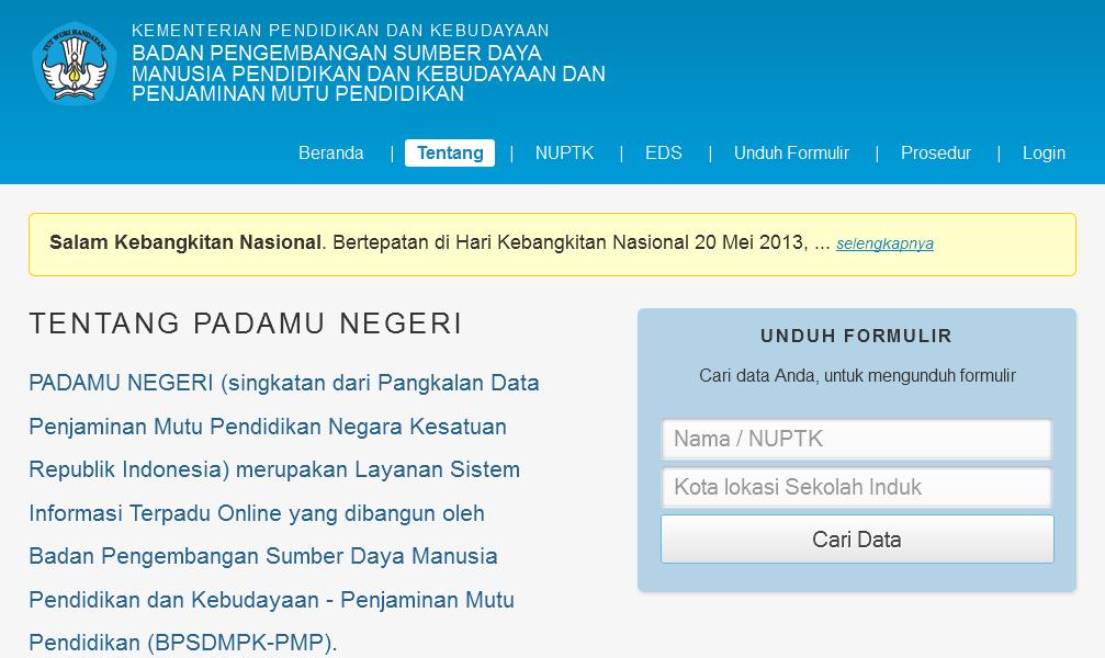 Kemdikbud Rilis Situs Layanan PADAMU NEGERI