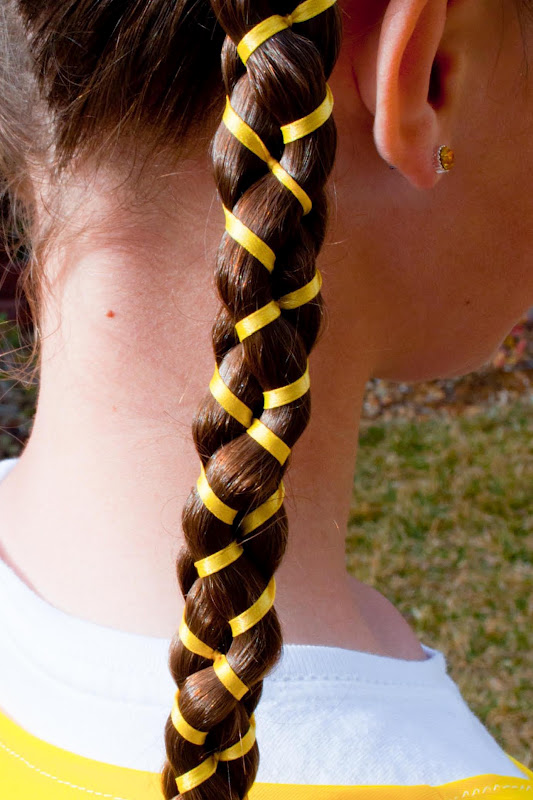 Princess Piggies: 5-Strand Braid With Ribbon