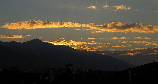 Zachód słońca nad Pirynem.