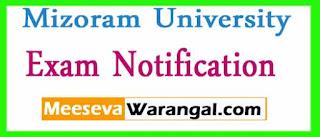 Mizoram University Ph.D Management Admission Feb 2017 Exam Notification