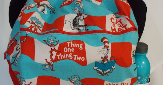 Gypsy Spoonful Wonderfully Whimsical Dr. Seuss Cat in the Hat Backpack