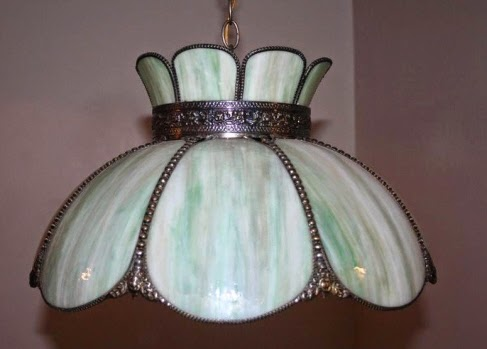 Above Is An Old But Not Nearly Enough Hanging Shade That Many People Would Call A Tiffany Lamp It Clearly Authentic Because Of The